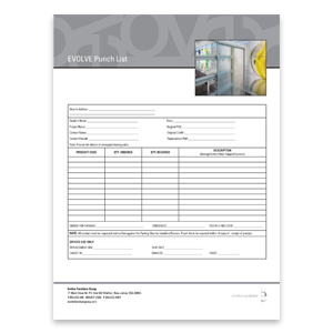 Punch List Form